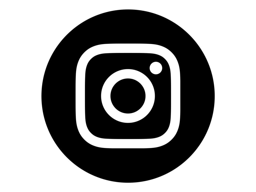 Instagram Icon White On Black Circle Suburbia Property
